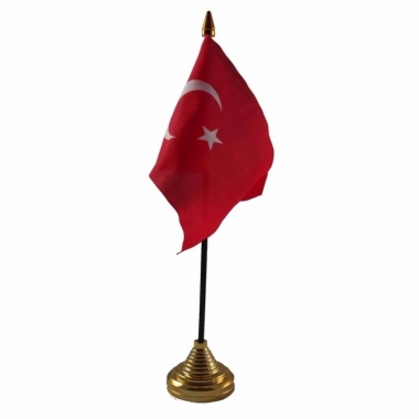 Turkije versiering tafelvlag 10 x 15 cm