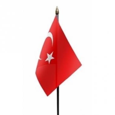 Turkije vlaggetje polyester