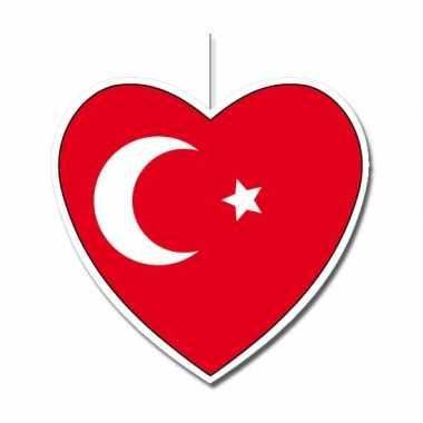 Turkse decoratie hart 30 cm