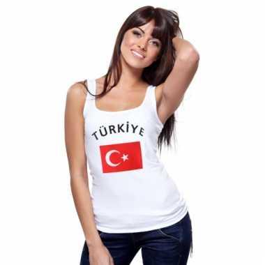 Turkse vlag tanktop / t-shirt voor dames