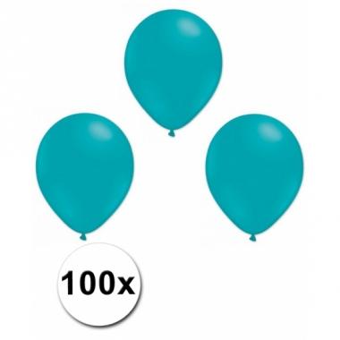 Turquoise ballonnetjes 100 stuks
