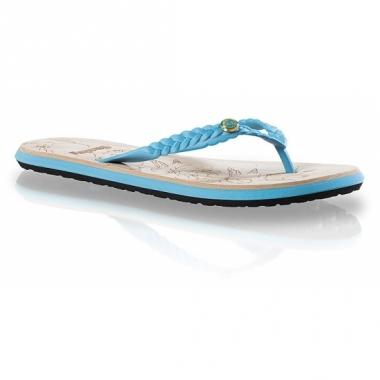 Turquoise blauwe teenslippers voor dames