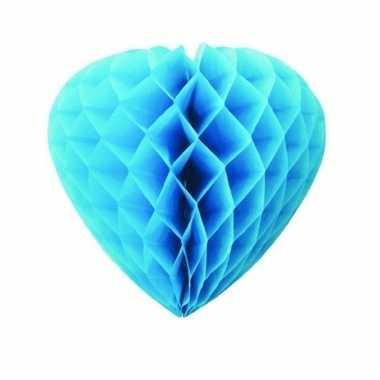 Turquoise decoratie hart papier