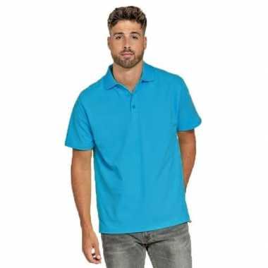 Turquoise poloshirt voor heren