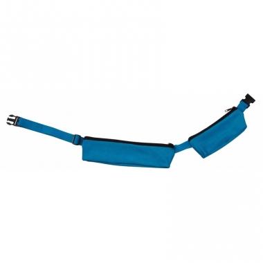 Turquoise sport heuptasje 2 vakken 80-107 cm voor volwassenen