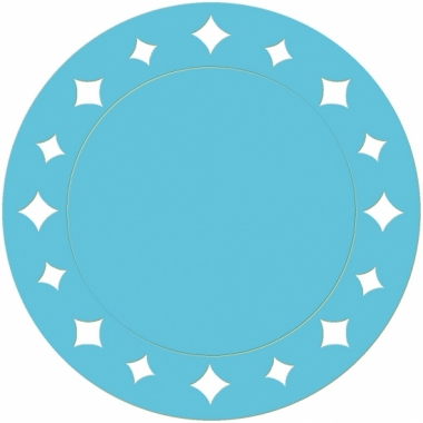 Turquoise wegwerp placemats 33 cm