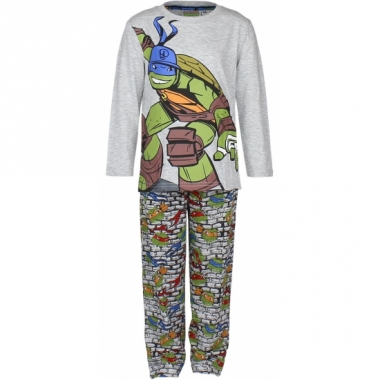 Turtles pyjama grijs