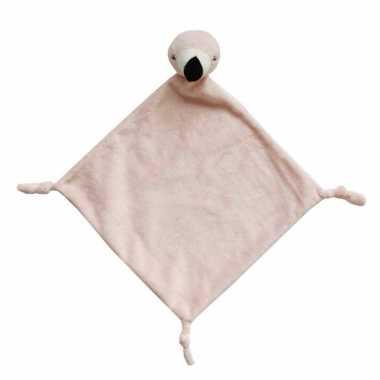 Tutteldoekje roze flamingo 40 cm