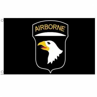 Tweede wereldoorlog 101st airborne division vlag 150 x 90 cm