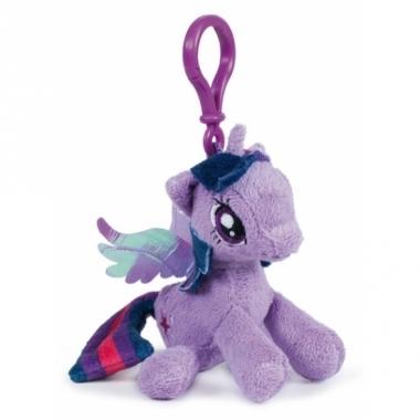 Twilight sparkle knuffeltje met clip 12 cm