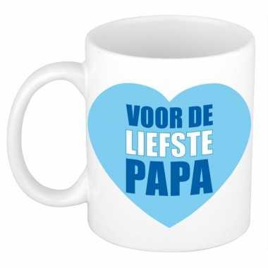 Vaderdag cadeau mok / beker voor de liefste papa 300 ml