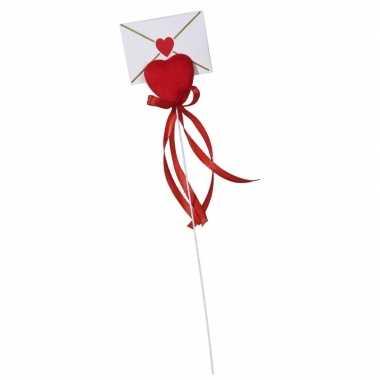 Valentijn hartje met enveloppekaart