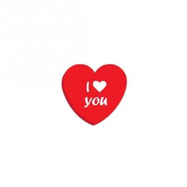 Valentijn hartjes blik met snoepjes