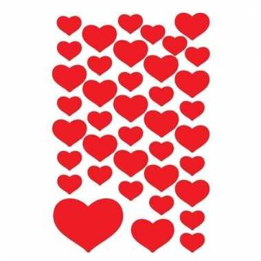 Valentijn stickers 120 stuks