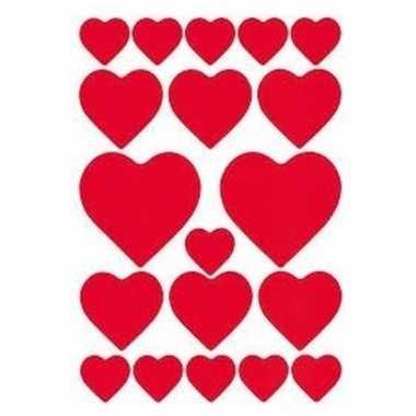 Valentijn stickers 57 stuks