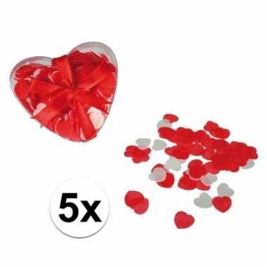 Valentijnsdag bad decoratie hartjes 100 gram
