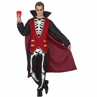 Vampieren mannen outfit met skeletten opdruk
