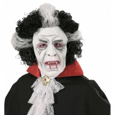 Vampieren masker met pruik