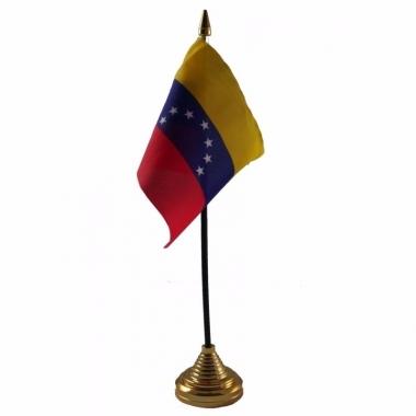 Venezuela versiering tafelvlag 10 x 15 cm