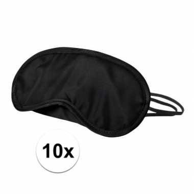 Verduisterend oogmasker zwart 10x