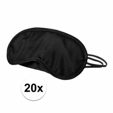 Verduisterend oogmasker zwart 20x