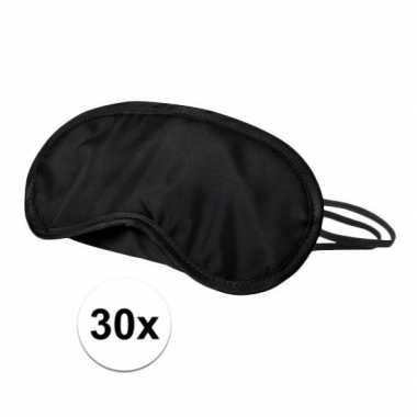 Verduisterend oogmasker zwart 30x