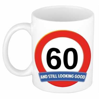 Verjaardag 60 jaar mok / beker stil looking good
