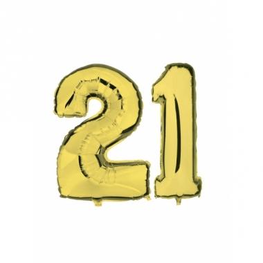 Verjaardag ballonnen 21 jaar goud