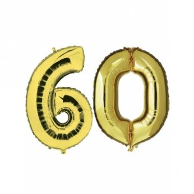 Verjaardag ballonnen 60 jaar goud