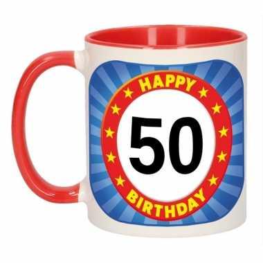 Verjaardag beker / mok 50 jaar 300 ml