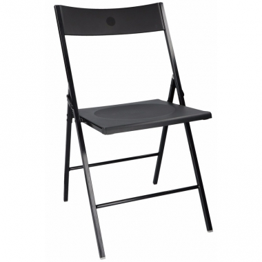 Verjaardag bijzet stoel zwart