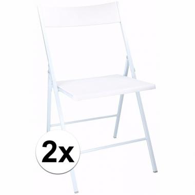 Verjaardag bijzet stoelen wit 2 stuks