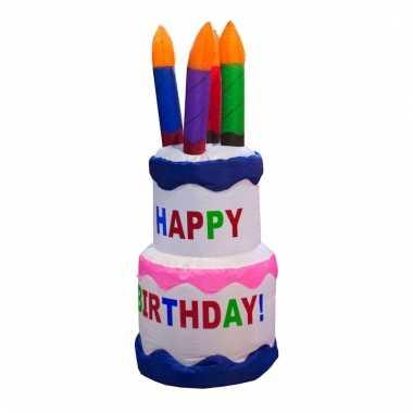 Verjaardag cake opblaasbaar 120 cm
