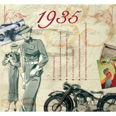 Verjaardag cd-kaart met jaartal 19352