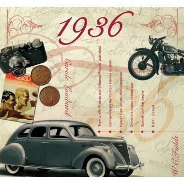 Verjaardag cd-kaart met jaartal 1936