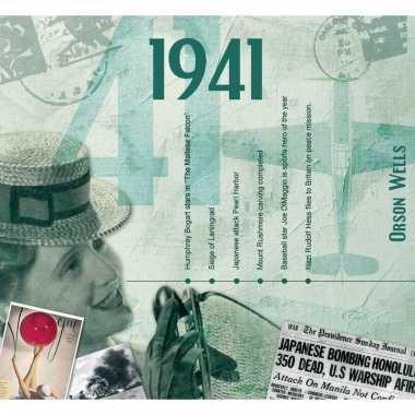 Verjaardag cd-kaart met jaartal 1941