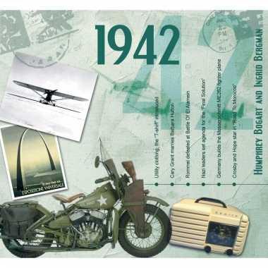 Verjaardag cd-kaart met jaartal 1942
