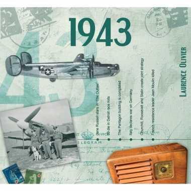 Verjaardag cd-kaart met jaartal 1943