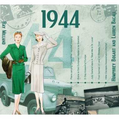 Verjaardag cd-kaart met jaartal 1944