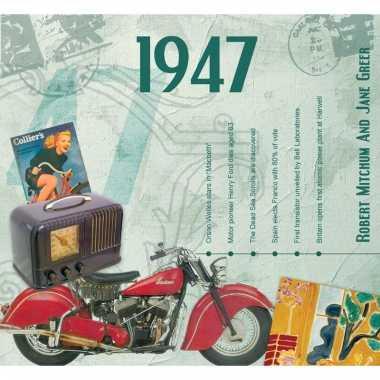 Verjaardag cd-kaart met jaartal 1947