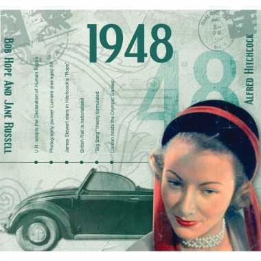 Verjaardag cd-kaart met jaartal 1948