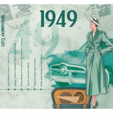 Verjaardag cd-kaart met jaartal 1949