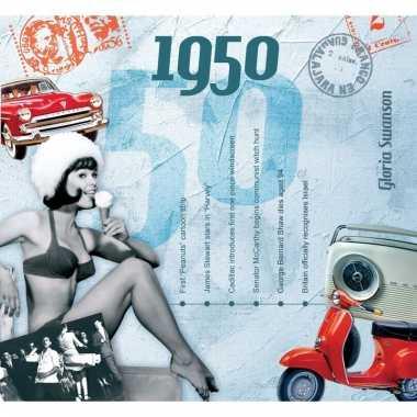 Verjaardag cd-kaart met jaartal 1950