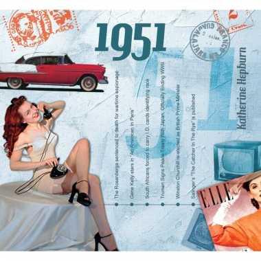 Verjaardag cd-kaart met jaartal 1951