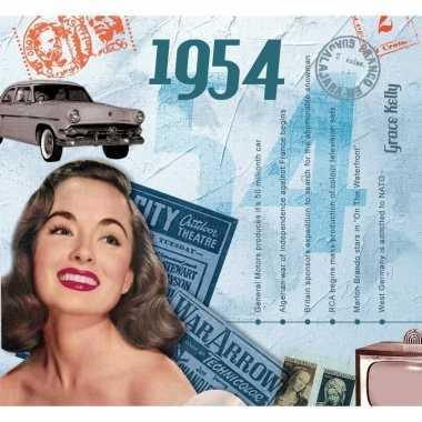 Verjaardag cd-kaart met jaartal 1954