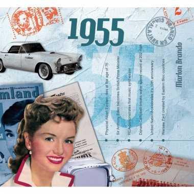 Verjaardag cd-kaart met jaartal 1955