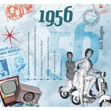 Verjaardag cd-kaart met jaartal 1956