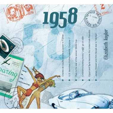 Verjaardag cd-kaart met jaartal 1958