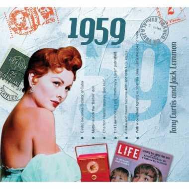 Verjaardag cd-kaart met jaartal 1959