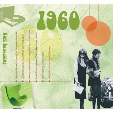 Verjaardag cd-kaart met jaartal 1960